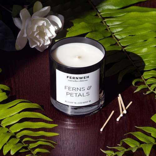 Ferns & Petals Scented Soy Wax Candle