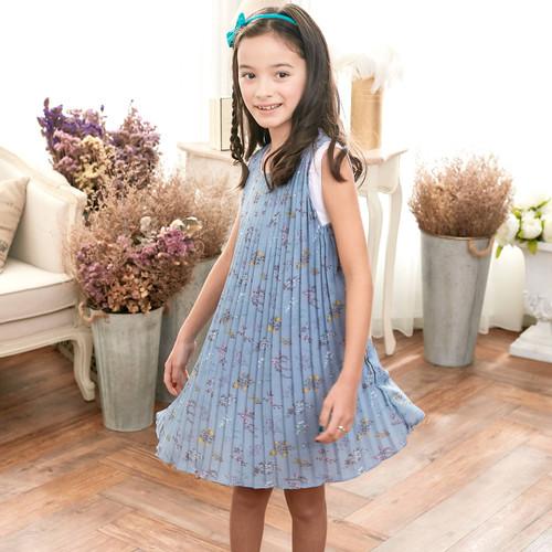 Blue Floral Dress (toddler/girl)