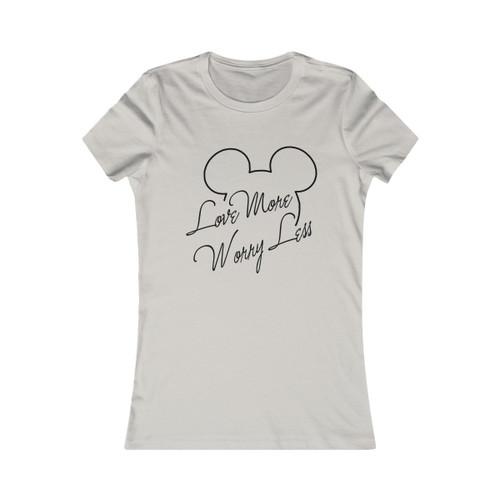 Love More Worry Less Mickey Women's Tee