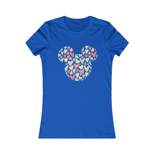 Colorful hearts in Mickey Women's Tee