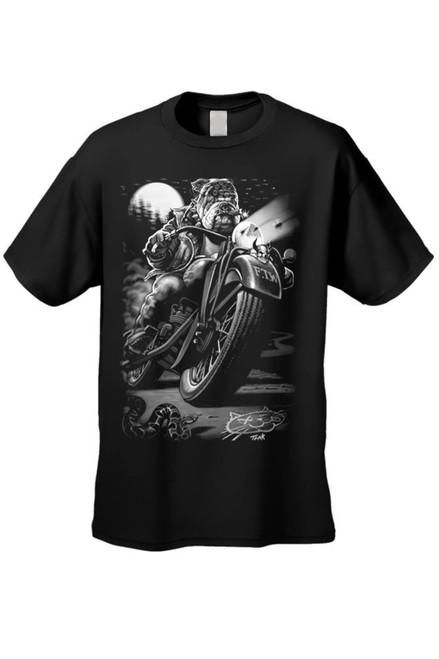 Men's/Unisex T Shirt Biker Bulldog Cats Suck Canines Rule Short Sleeve