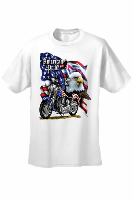 Men's/Unisex T Shirt USA Flag American Pride Short Sleeve