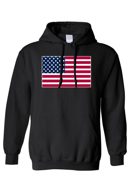 Men's/Unisex Pullover Hoodie United States of America Flag Pride