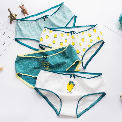 Summer women's panties cotton briefs mango print