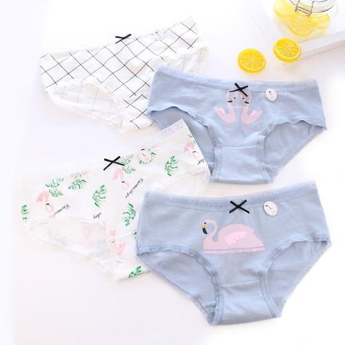 Women's panties cotton Flamingo print briefs