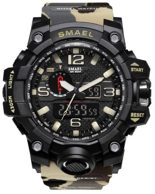 Sports Men's Watch in Black/White vibrant Design