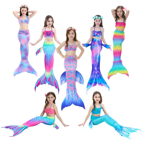 3pc/Set Girl's Bikini Mermaid Tails