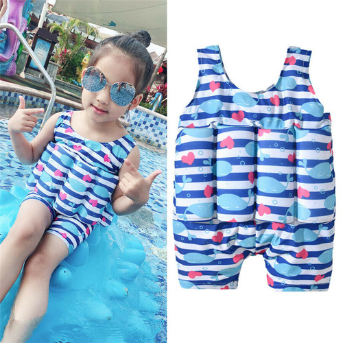2-7Y Baby Girls Swimming Floating Jacket