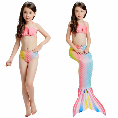 3pc Kids Little Mermaid Tails for Swimming