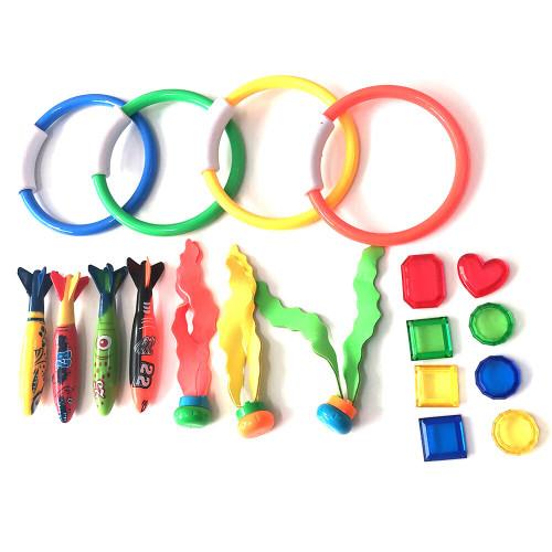 19pc/set Treasures Swimming Pool Toys