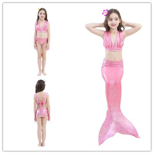 Girl's Swimsuit Kids Mermaid Tail For Swimming