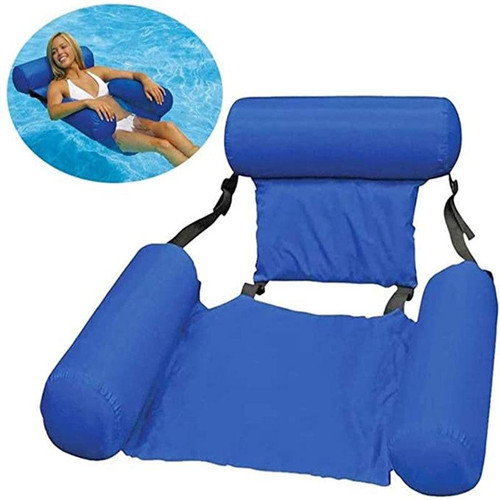 PVC Summer Inflatable Foldable Floating Row Swimming Chair