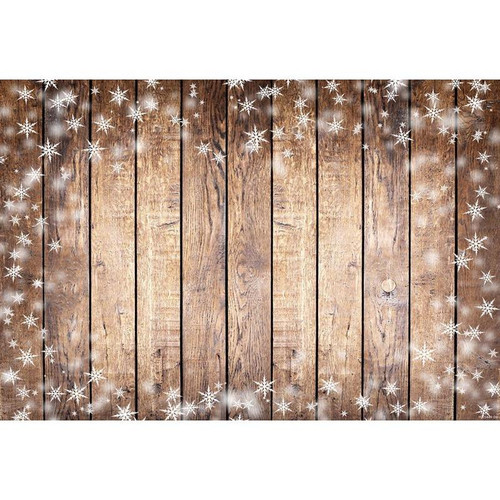 Wood Plank Texture Snowflake Print Photography