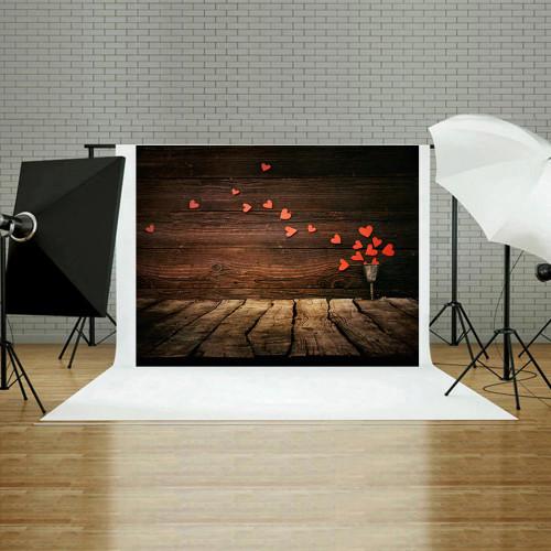 Flower Heart Printed Digital Photography Backdrop