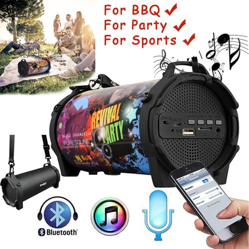 Outdoor Portable Subwoofer Column Bluetooth Speaker Wireless