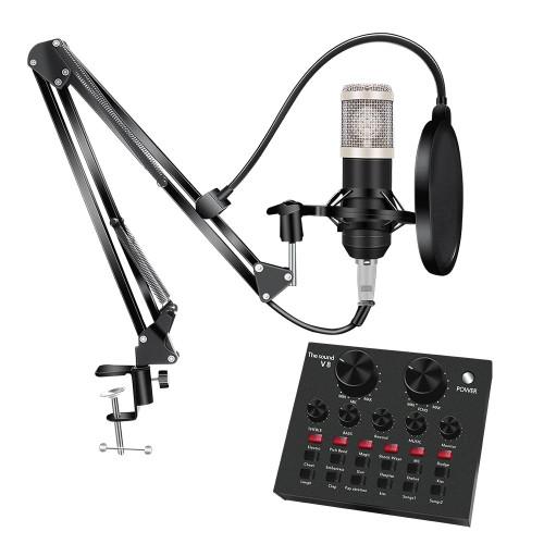 Bm 800 Studio Microphone Kits w/Filter V8 Sound Card Condenser