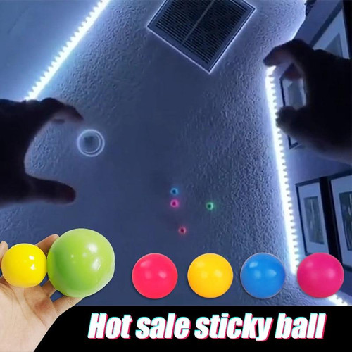 Kids Toys Stick Wall Ball Stress Relief