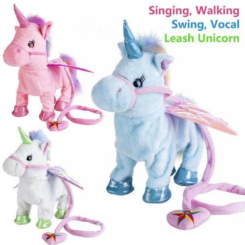 Funny Electric Walking Music Unicorn Plush Toy