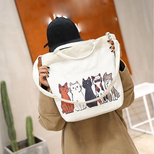 Fashion handbag Women's Cartoon Cats Printed