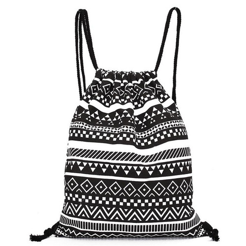 Fashion linen drawstring bag Unisex