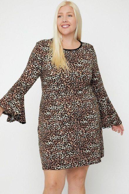 Bell Sleeves Print Dress