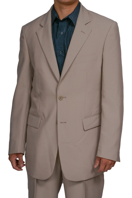 Men's 2 Button Tan / Beige Dress Suit New