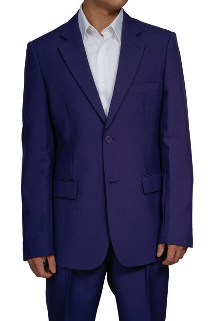 Men's 2 Button Purple Dress Suit New