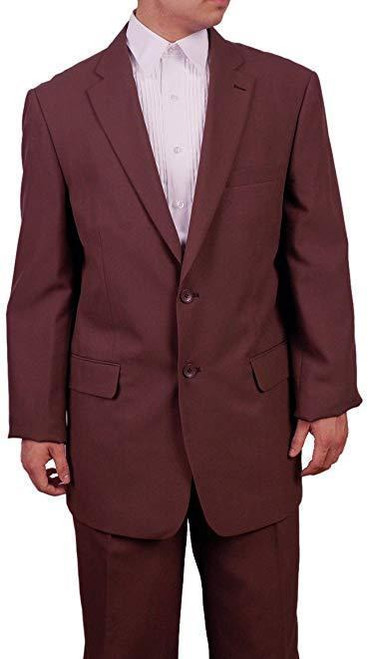 Men's 2 Button Brown Dress Suit New