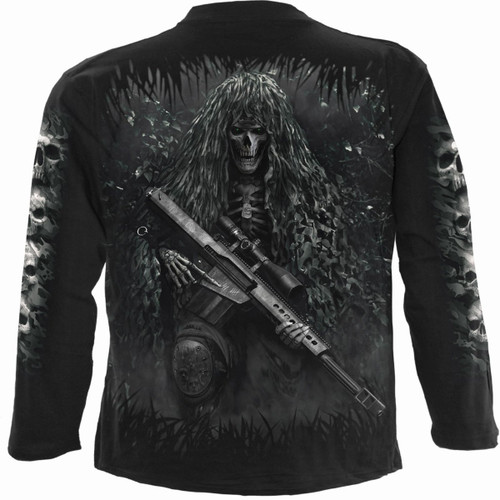 TACTICAL REAPER - Longsleeve T-Shirt Black