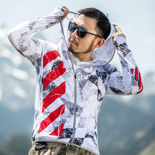 Fishing Designed Jacket UV Protection long sleeve Hoodie for Men