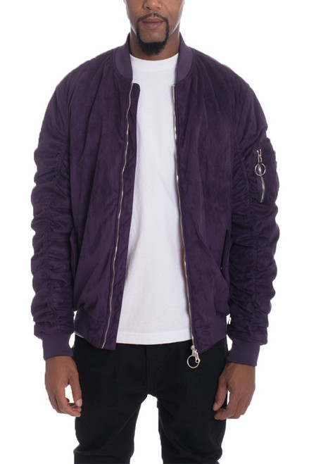 Faux Suede Leather Suede Jacket for Men