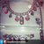 Bib Necklace with Colorful Swarovski Crystals