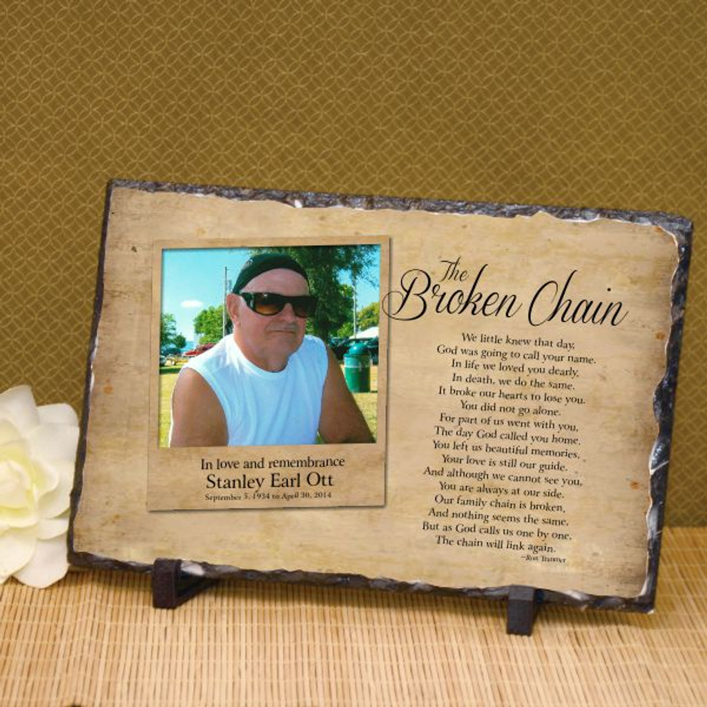 The Broken Chain Photo Plaque Memorial Plaque With Photo