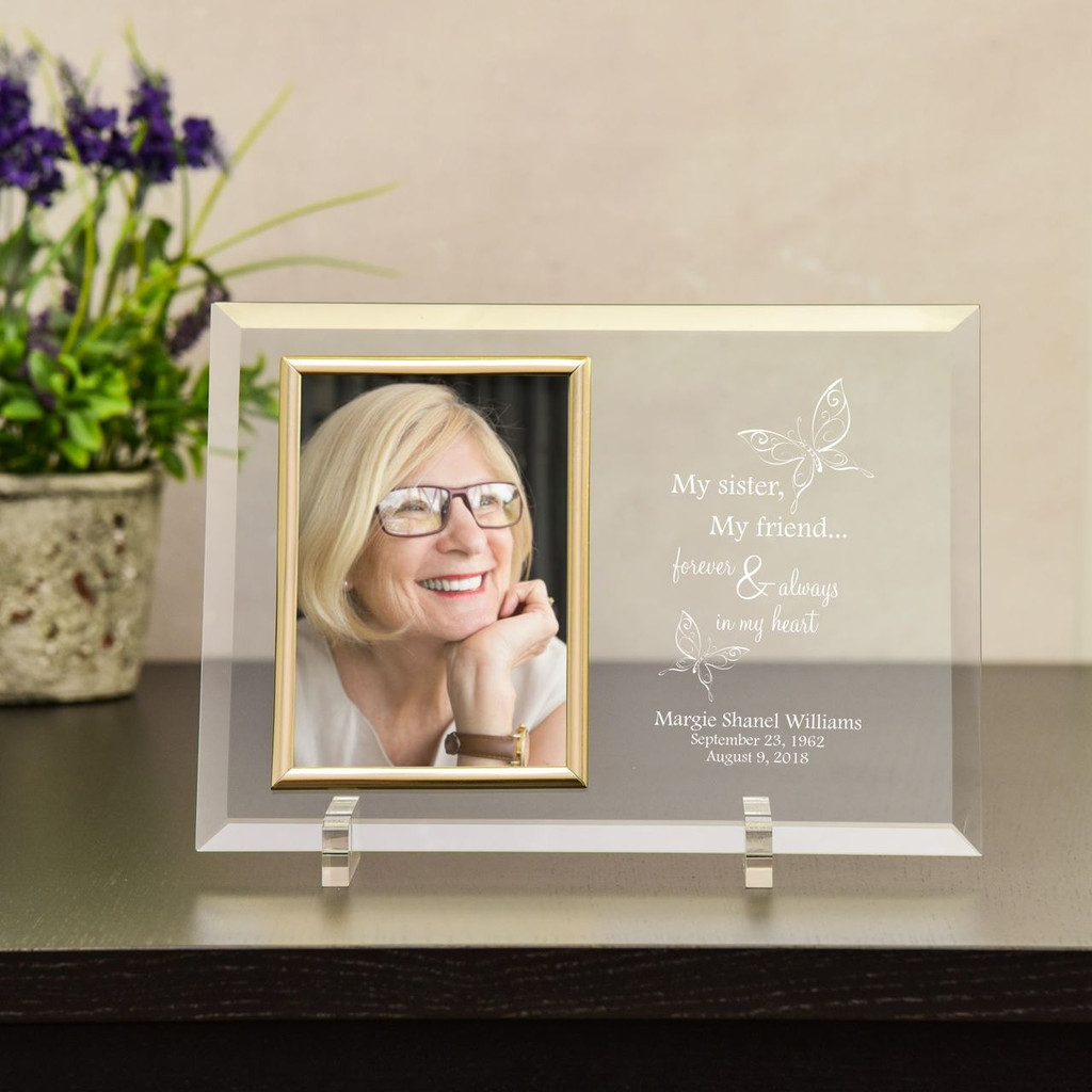 Glass Picture Frame Sympathy Gift For The Loss Of A Sister