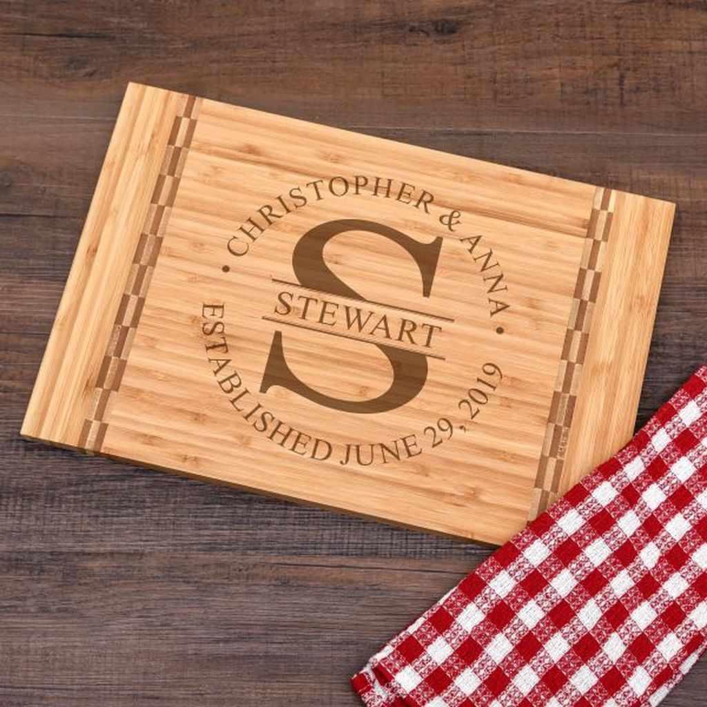 Personalized Cutting Board Wedding Gift Custom Cutting Board Wedding Engagement Cutting Board Monogram Cutting Board
