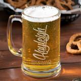 Modern Bridal Party Personalized Beer Mug