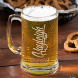 Modern Bridal Party Personalized Beer Mug