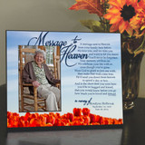 Memorial picture frame with ballons to heaven poem