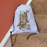 Retro Basketball Drawstring Bag