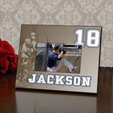 Retro Personalized Baseball Picture Frame