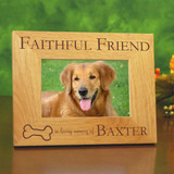 Faithful Friend Personalized Pet Memorial Frame