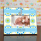 Baby Boy Modern Monogram Personalized Frame