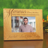 Memories of Brother Engraved Wooden Frame