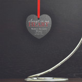 Always In My Heart Personalized Memorial Ornament