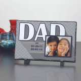 Established Dad Personalized Large Slate Plaque