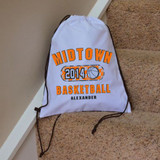 Classic Basketball Drawstring Bag
