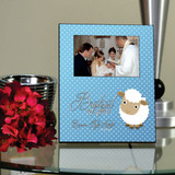 Baptized in Christ Blue Personalized Picture Frame