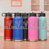 Personalized Basketball Water Bottle Comes in 5 Colors