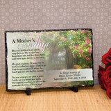 Mother's Goodbye Large Personalized Plaque