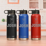 Personalized Wrestling Water Bottle Available in 3 Colors